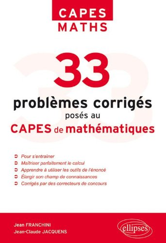 33 Problmes Poss au Capes Mathmatiques