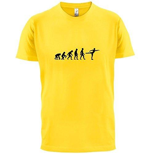 Evolution of Man - Eislaufen - Herren T-Shirt - 10 Farben Gelb