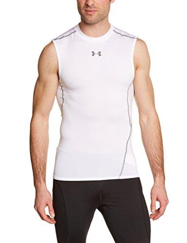 Under Armour Herren Fitness T-Shirt Ua Hg Armour Sl, Weiß, L, 1257469