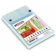 Edding e-4600 - Rotulador textil permanente (puntas redondeadas de 1 mm, 10 unidades), varios colores