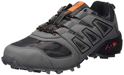 CAGAYA Herren Wanderhalbschuhe Rutschfeste Cross Country Laufschuhe Outdoor Schuhe Trekking Wanderschuhe Sneaker 39-46 (45, Grau)