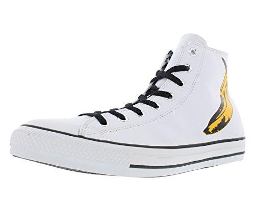 Converse - All Star Prem Ox Warhol, Sneaker Unisex – Adulto White/Black/Freesia