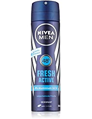 Nivea Men Deo Fresh Active Spray, ohne Aluminium, Doppelpack, 1er Pack (2 x 150 ml)