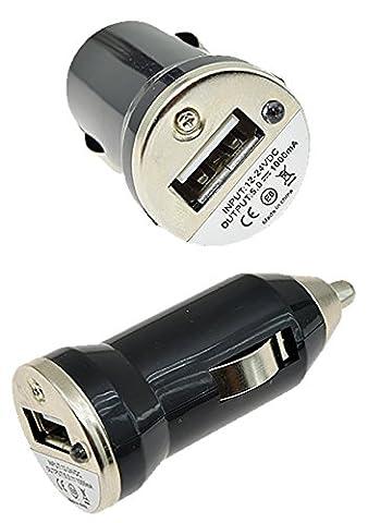 Mini Zigarettenanzünder USB Kfz Adapter Auto Lader Ladegerät LKW PKW (1000 mA) für Alcatel OneTouch Watch / LG G Watch / Motorola Moto 360 / Asus ZenWatch