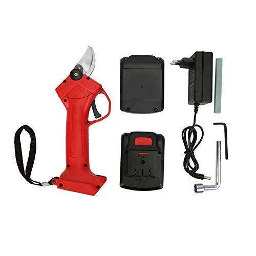 Tijeras de podar eléctricas, cortadora de rama eléctrica de 16,8 V Tijeras de podar de batería de litio Cortadora de poda 110~240 V(1 Battery 1 Adapter)