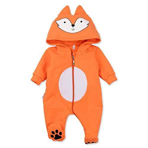 Kostüm Fuchs Kleinkind Süsse - Baby Sweets Baby Tier Strampler Unisex orange | Motiv: Fuchs | Tierstrampler mit Kapuze für Neugeborene & Kleinkinder | Größe 3-6 Monate (68)...