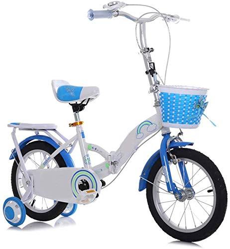 HJTLK Jungen Mädchen Kinder Kinder Kinderfahrrad Fahrradrahmen aus Kohlenstoffstahl Faltbares Fahrrad mit verstellbarem Sitz und Griff