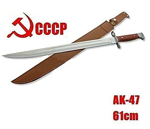 gigantisches 60cm großes russisches AK 47 CCCP (AK47) Bajonett - Kampfmesser - Saufänger - Hirschfänger - Saufeder - Jagdmesser - brutales Teil