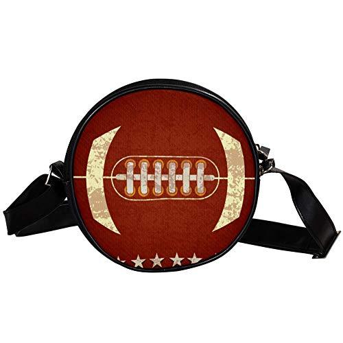 Bennigiry Handtasche/Clutch, American Football, rund, für Teenager, Mädchen und Frauen