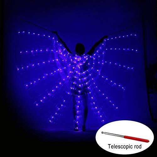 Soulitem Tanz LED Flügel Leuchten Halloween Kostüme Bühnenperformance Kleidung für ()
