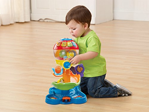 Image of VTech Baby Pop and Roll Ball Tower - Multi-Coloured