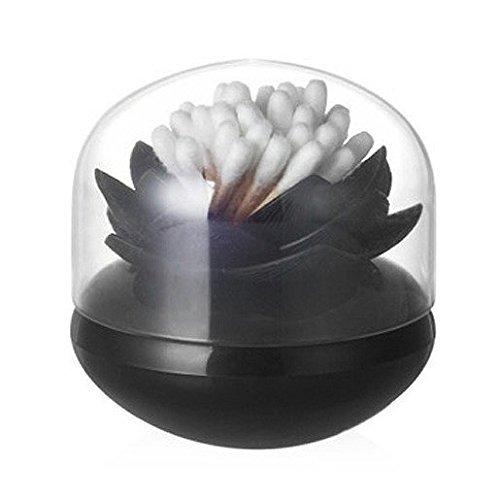 Wattestäbchen Halter A schwarz (Cotton Acrylic Holder Ball)