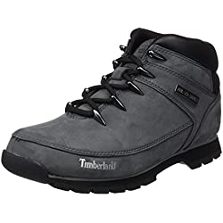 Timberland Euro Sprint Hiker Waterproof, Bottes Chukka Homme, Gris (Medium Grey Nubuck), 42 EU