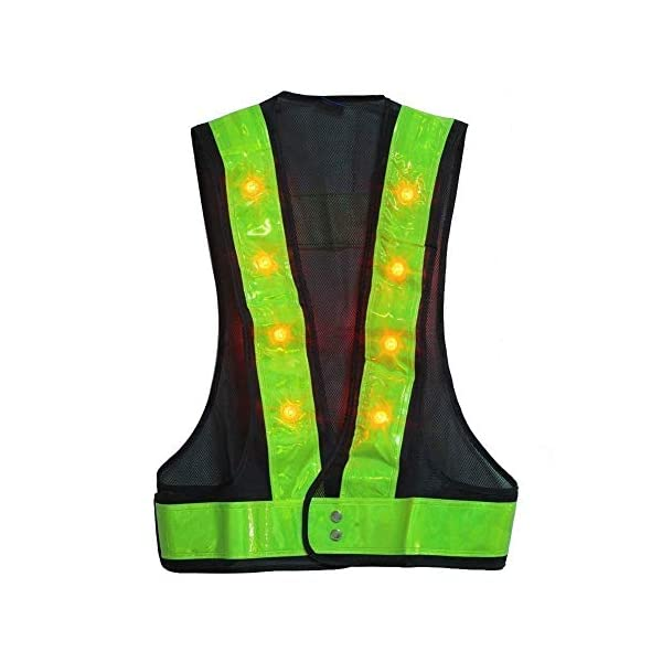 LED Reflective Outdoor High Visibility Reflector Vest for Men, Women