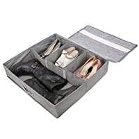 Periea - Sturdy Shoe Storage Box With Hard Base and Sides (Holds 3-12 Pairs) 6 Colours Available