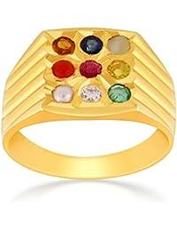 Malabar Gold And Diamonds Precia 22k (916) Yellow Gold And Ruby Ring