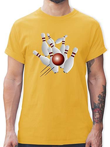 egeln alle 9 Kegeln Kugel - XXL - Gelb - L190 - Herren T-Shirt und Männer Tshirt ()