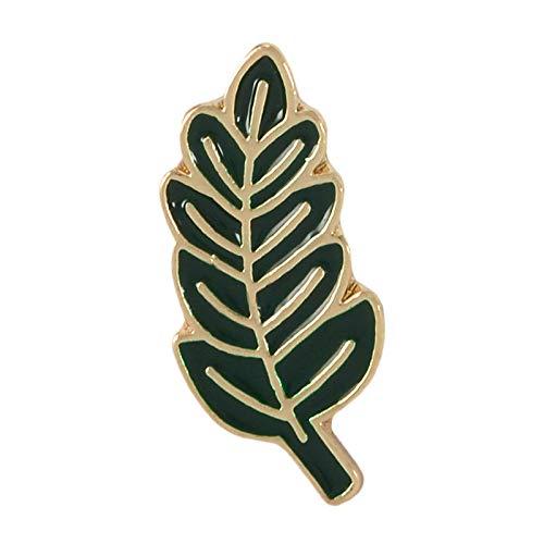 LFDHZ Pflanze Emaille Pin Palm Leaf Anstecknadeln Baum Abzeichen grüne Broschen Abzeichen für Kleidung Taschen Rucksäcke Geschenk für Pflanze Lady Leaf