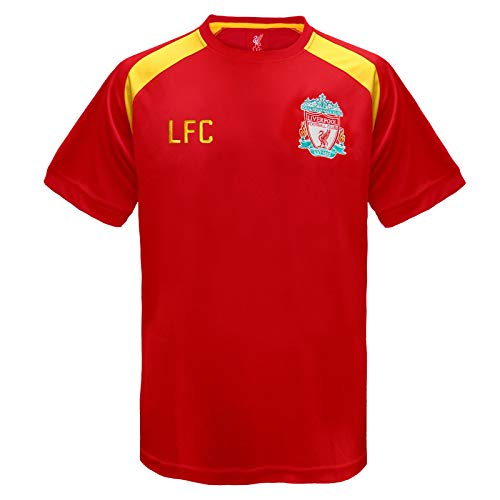 7781ab153 Liverpool FC Official Football Gift Mens Poly Training Kit T-Shirt Red 3XL