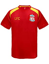 c993f561d55 Liverpool FC Official Football Gift Mens Poly Training Kit T-Shirt