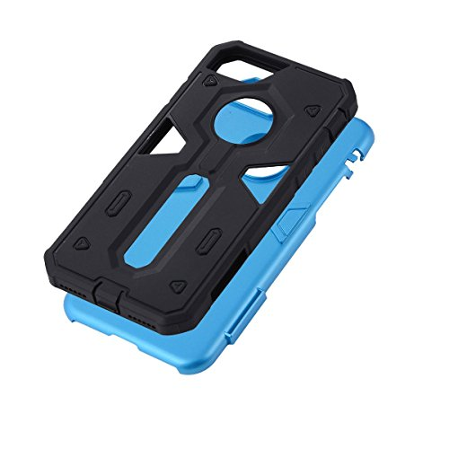 "HYAIT® For IPHONE 7 4.7"" [CONTRAST TRIANGLE]Case Dual Layer Hybrid Armor Rugged Plastic Hard Shell Flexible TPU Bumper Protective Cover-SJAE01 BHE03"