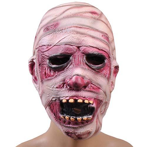 e Gesichts-Cosplay Zombie Mumien Maske Horror Maskerade Erwachsener Geist Halloween-Maske ()