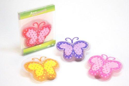 Set 2 scaldamani farfalla colori assortiti Montemaggi