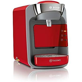 Bosch TAS3208 Tassimo Suny - Cafetera monodosis, color rojo y gris ...