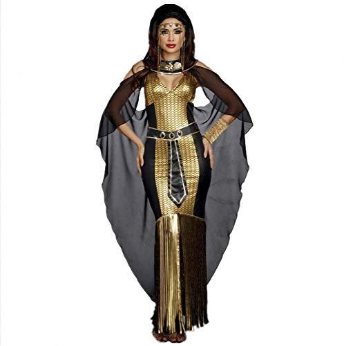 (Frauen Sexy ägyptische Königin Kostüm Göttin Athena Erwachsene Party Fancy Halloween Kostüme Pailletten Kleid)