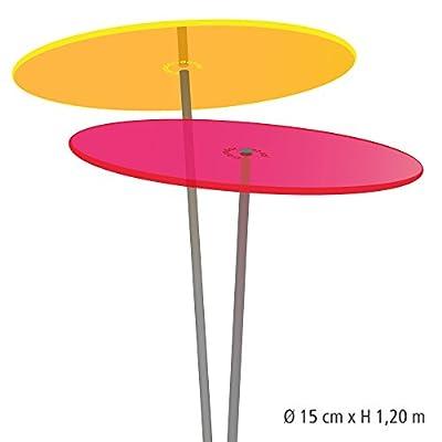 Cazador-del-sol ® medio | Duo | 2 Stück Sonnenfänger-Scheiben gelb/rot 1,20 Meter hoch - das Original von Cazador-del-sol bei Du und dein Garten