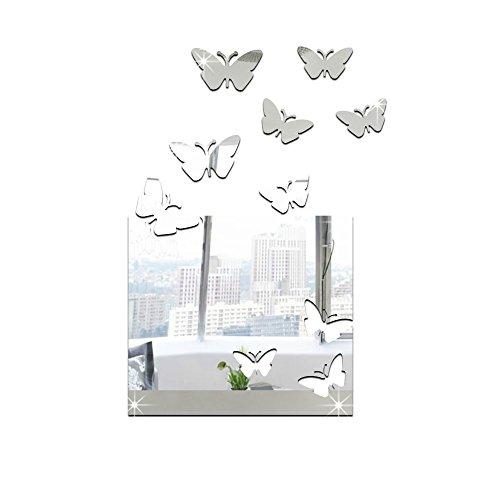 GK-Die Spiegelwand diy Platz hohlen Stollen zu 28 * 43 cm,Silver