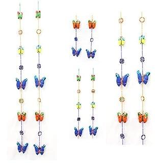 AMBA HANDICRAFT Toran/ Door Hanging / home décor Window Valance Home Décor interior pooja bandanwaar Diwali gift festival colorful Indian handicraft love- SET OF 2.Hanging044