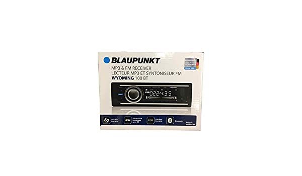 BLAUPUNKT Wyoming 100 BT MP3 /& FM Receiver 4 Channel Output with Bluetooth USB Port SD Card Slot /& AUX Port