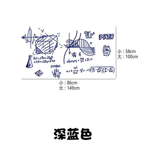 Geometrie Formel Formel Wandtattoo Tutorial Junior High School Klassenzimmer Dekoration kulturellen Aufkleber, Marineblau, groß ()