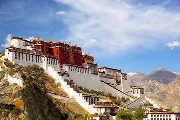 """Alu-Dibond-Bild 120 x 80 cm: \""""Potala palace in Lhasa, Tibet\"""", Bild auf Alu-Dibond"""