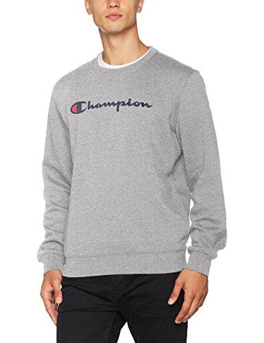 Champion Herren Crewneck Sweatshirt-Institutionals, Grau (Oxgm), Small