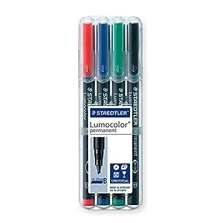 Staedtler 314 WP4 Negro, Azul, Verde, Rojo 1pieza(s) – Marcador permanente (Negro, Azul, Verde, Rojo, Transparente, Polipropileno, 2,5 mm, 1 pieza(s))