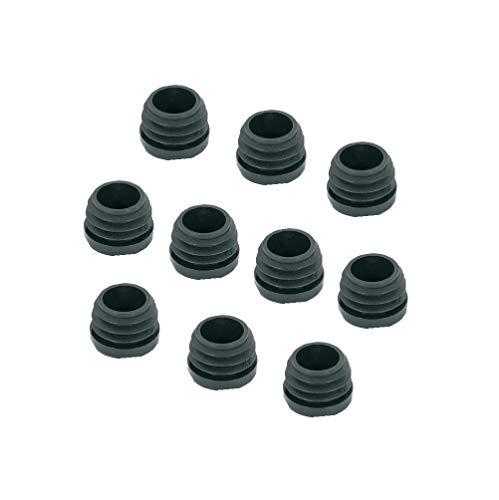 Gedotec PE Rohrstopfen Fußkappen schwarz aus Kunststoff für Rundrohr | Formrohr-Stopfen rund | Lamellenstopfen Ø 30 mm | 10 Stück