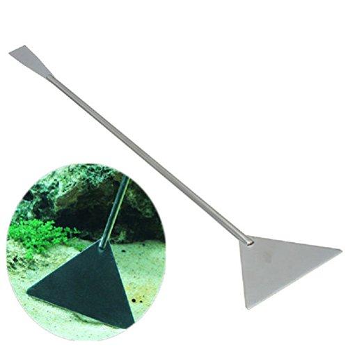ueetek Pfannenwender-Kies-32cm, Werkzeug zur Pfannenwender Edelstahl für das Aquarium, Werkzeug Maintenance Sand Setzeisen Filtersand Handschutz 455Maurerkelle