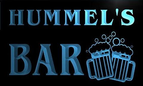 w002244-b HUMMEL'S Nom Accueil Bar Pub Beer Mugs Cheers Neon Sign Biere Enseigne Lumineuse