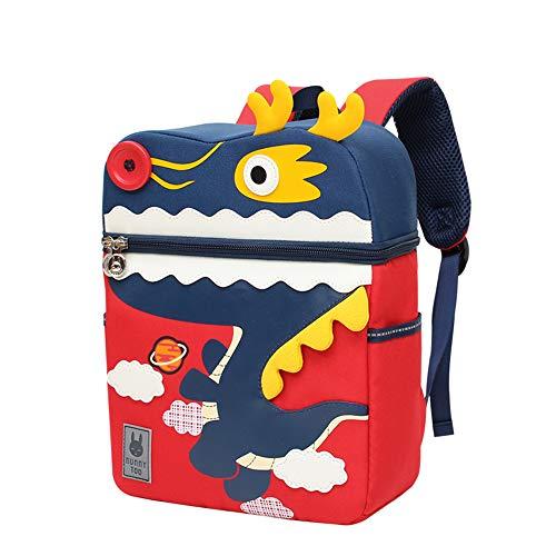 Kinder Tasche Kindergarten Rucksack Jungen Mädchen Babyrucksack Lunchpaket Süßer Karikatur Bags of 3D Bunt Animal Kleinkind Schultasche Drachen L