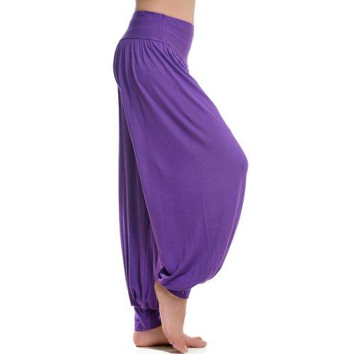 Pantalon de yoga bouffant pour femme 95% modal Violet - Violet