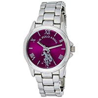 U.S. Polo Assn. Women's Quartz Metal and Alloy Casual Watch, Color:Silver-Toned USC40134