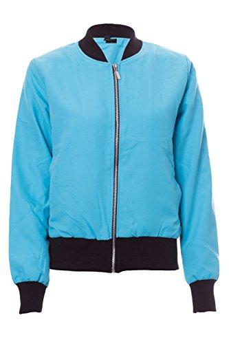 NOROZE Womens Ladies Summer Light Weight Bomber Biker Vintage Zip up Jacket Coat