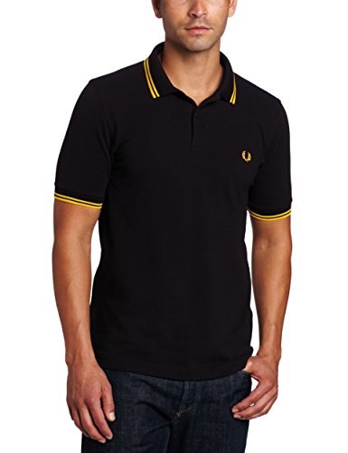 2633e6ef Fred Perry M3600, Polo Para Hombre, Negro (Black/Yellow), Medium