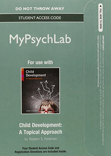 NEW MyPsychLab without Pearson eText -- Standalone Access Card -- for Child Development:A Topical Approach