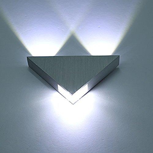 Newsbenessere.com 41Z25f0pf7L Glighone Applique da Parete Interni Lampada a Muro Applique LED Moderne in Alluminio 3W per Decorazione Soggiorno Camera da Letto Bagno Colore Bianco Freddo