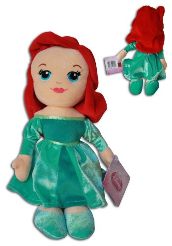 ariel-12-plush-doll-disney-princess-collection-soft-toy-red-head-green-dress-little-mermaid