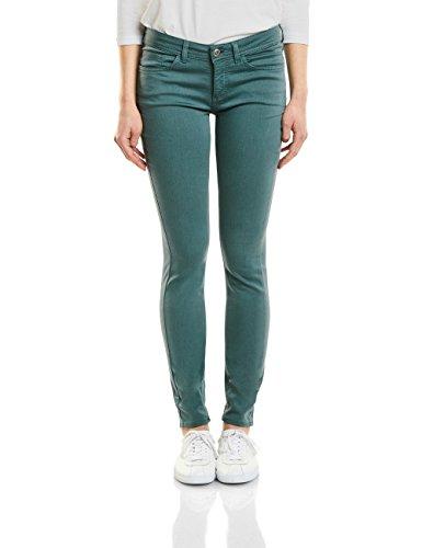 Street One Damen Slim Jeans 371237 York, Grün (Clean Teal Green Wash 11325), W31/L30