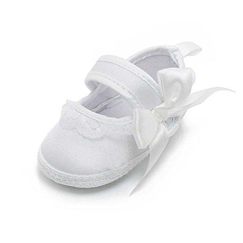 una grande varietà di modelli confrontare il prezzo vendita a buon mercato usa DELEBAO Scarpe Primi Passi Scarpe Battesimo Bimba Bianche Scarpe da Neonato  Morbido (Scarpe,0-6 Mesi)